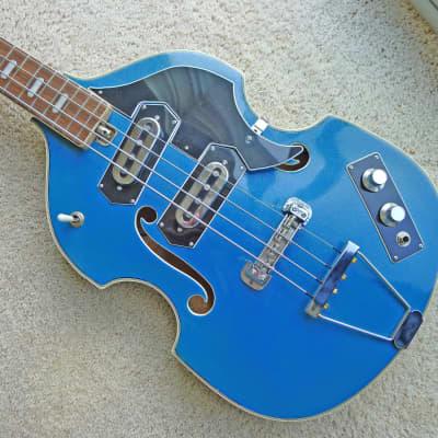 Vintage 60's Japan Telestar Violin Bass
