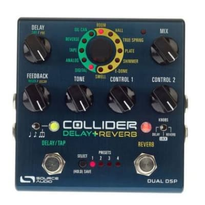 Source Audio Sa263 Collider Stereo Delay Reverb Effects Pedal for sale