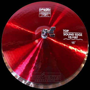 """Paiste 2002 Sound Edge Hi Hat Cymbals 15"""" Red Color Sound CUSTOM ORDER"""