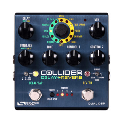 [FREE Intl Shipping] Source Audio Collider Delay + Reverb Ambience Ventris Nemesis