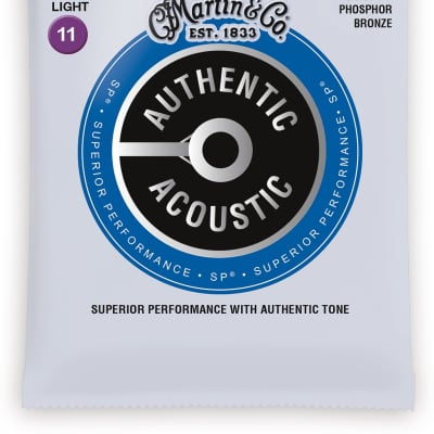 Martin Authentic Acoustic Phosphor Bronze Acoustic Guitar Strings - 10-47