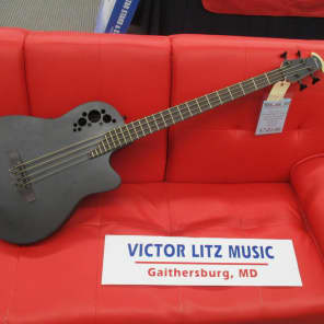 Ovation B778TXB TX Mid-Depth Acoustic 4-String Bass Satin Black