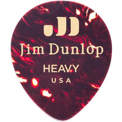Dunlop 485R05HV Celluloid Shell Teardrop Heavy Guitar Picks (72-Pack)
