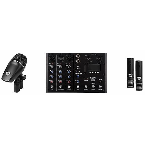 sabian sskit 4 piece drum mic and mixer set cascio music reverb. Black Bedroom Furniture Sets. Home Design Ideas