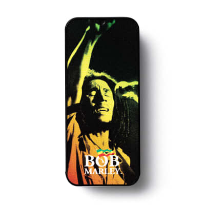 Dunlop BOBPT05M Bob Marley Reggae Series Medium Guitar Pick Tin (6-Pack)