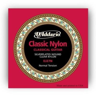 D'Addario EJ27N Nylon/Classical Guitar Strings | Normal Tension