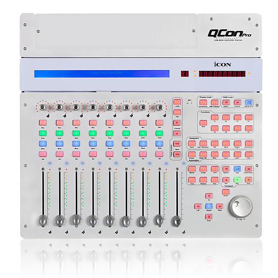 icon qcon pro 8 fader daw usb midi controller w cubase le reverb. Black Bedroom Furniture Sets. Home Design Ideas