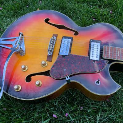 MIJ Aria Conrad 10178 Hollowbody Electric Guitar, Strap & Case for sale