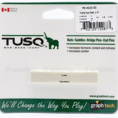 """NEW Graph Tech PQ-4025-00 TUSQ Nut Blank Slab 1/4"""" Thick for Guitar or Bass"""