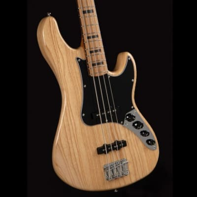 Cort GB64JJNAT GB Series 	Swamp Ash Body Canadian Hard Maple Neck 4-String Electric Bass Guitar for sale