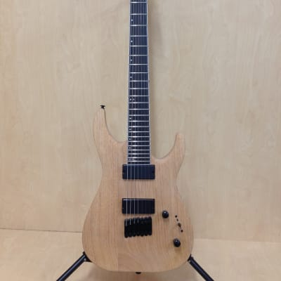 Haze HS-E007NOIL Natural Oil Solid Mahogany Body 7-String Electric Guitar+Bag for sale