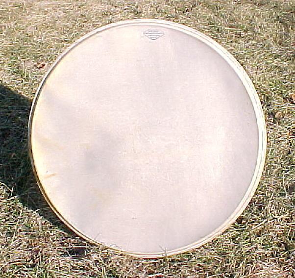 gretsch broadkaster 20 calfskin logo bass drum head reverb. Black Bedroom Furniture Sets. Home Design Ideas