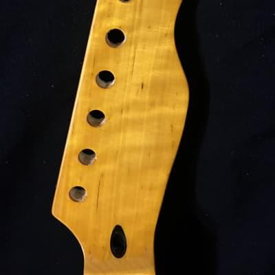 Artisan Maple Tele Neck, Maple Fretboard 2020 Amber/Vintage