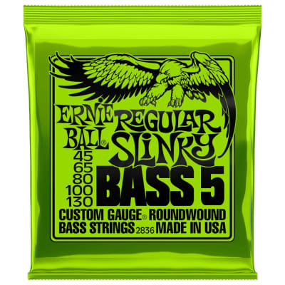 Ernie Ball Regular Slinky 45-130 5-String Bass Guitar Strings
