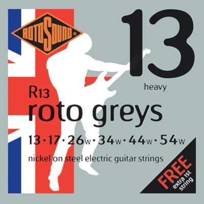 RotoSound Guitar Strings Electric Roto Greys Nickel Steel Heavy 13-54