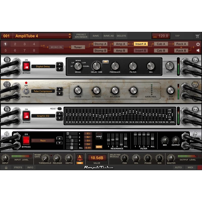 ik multimedia amplitube 4 deluxe includes legacy gear reverb. Black Bedroom Furniture Sets. Home Design Ideas