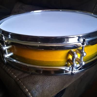 """Martial Percussion 13"""" Piccolo Snare Drum 2020 DUCO Lemon-Avocado Lacquer"""