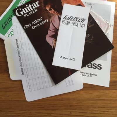 Gretsch Catalog, Price List, Order Form, Chet Atkins Promo 1972
