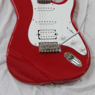 Crate Electra Electric Guitar Double Cut HSS Stratocaster Fat Strat Style - Red Finish for sale