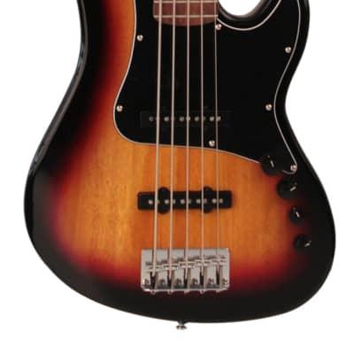 Cort GB35JJ 5-String Bass 2020 3-Tone Sunburst