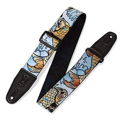Levys 2'' Poly Gtr Strp Sublimation-Printed W Souldier/Levy'S Garment Leather Ends Tri-Glide Adj for sale