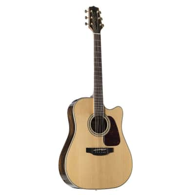 Takamine GD90CE ZC G90 Series Dreadnought Cutaway Solid Spruce/Ziricote Acoustic/Electric Guitar Natural Gloss