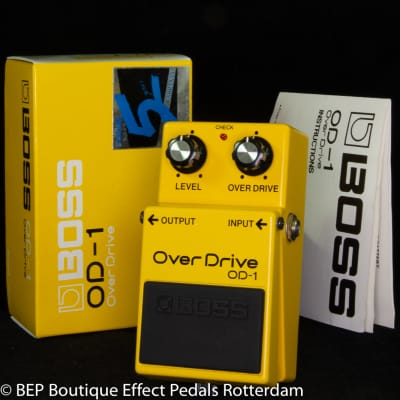 Boss OD-1 Overdrive 1988 Japan s/n 922912, as used by Pete Townshend and Billy Duffy