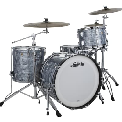 Ludwig Legacy Mahogany Sky Blue Pearl Mod 18x22_8x10_9x12_16x16 Special Order Drum Kit | Auth Dealer