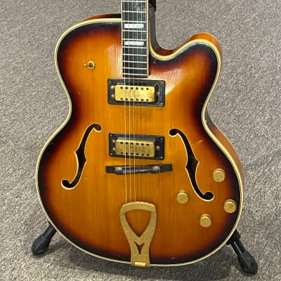 Vintage 1960's Elger Jazz Artist Archtop - USA Made, Nitro Sunburst, Gold Hardware w/ Case for sale