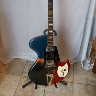 Wandre Orpheum Davoli Rock Oval Guitar 1960's multi-color for sale