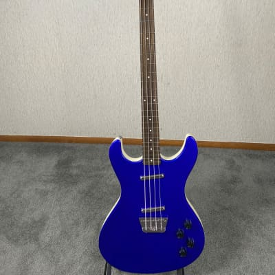 Danelectro DHD4BL Hodad Electro Bass Guitar - Metallic Blue With Alnico Pick-ups for sale