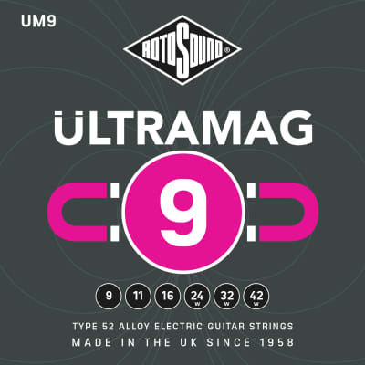 Rotosound Ultramag Type 52 Alloy Electric Guitar Strings gauges 9-42