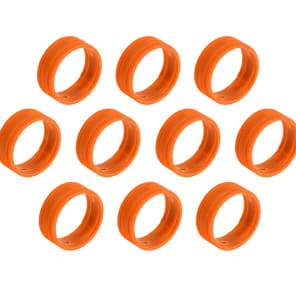 SuperFlex GOLD SFC-BAND-ORANGE-10PK Colored Cable ID Rings (10-Pack)
