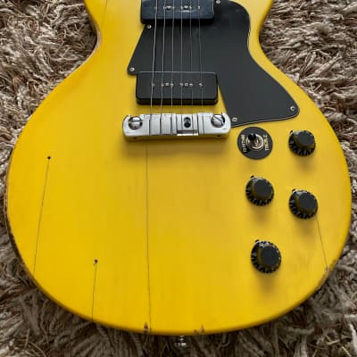 Limited Run Palermo 1959 Les Paul Special Conversion 2019 TV Yellow Relic W/ Case for sale