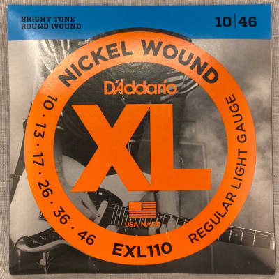 D'Addario EXL110 Nickel Wound Regular Light Electric Guitar Strings, .010 - .046