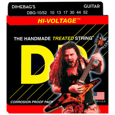 DR Strings DBG-10/52 Dimebag Darrell Hi-Voltage Med-Heavy 10-52