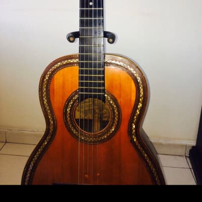 Salvador Ibañez É Hijos Guitarra Acústica Clásica/ Concierto 1896-1906 Nácar y Marfil for sale