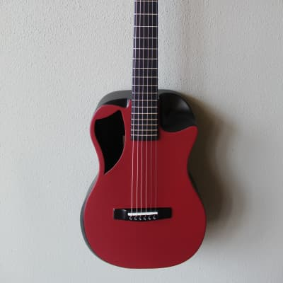Brand New Journey OF660 Overhead Carbon Fiber Acoustic/Electric Travel Guitar - Maroon Matte for sale