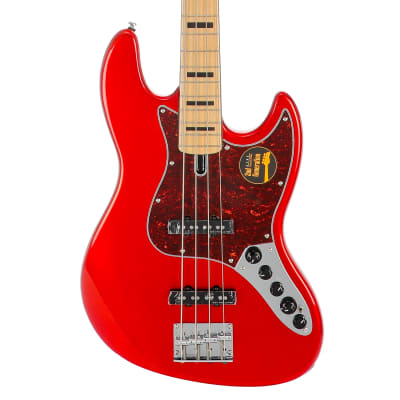 Sire Marcus Miller V7 Vintage Swamp Ash-4 (2nd Gen) Electric Bass Guitar - Bright Metallic Red for sale