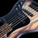 2019 F Bass VF5 PJ 5 String Bass Swamp Ash with Rosewood ~ Trans Brown Burst Matte Sheen