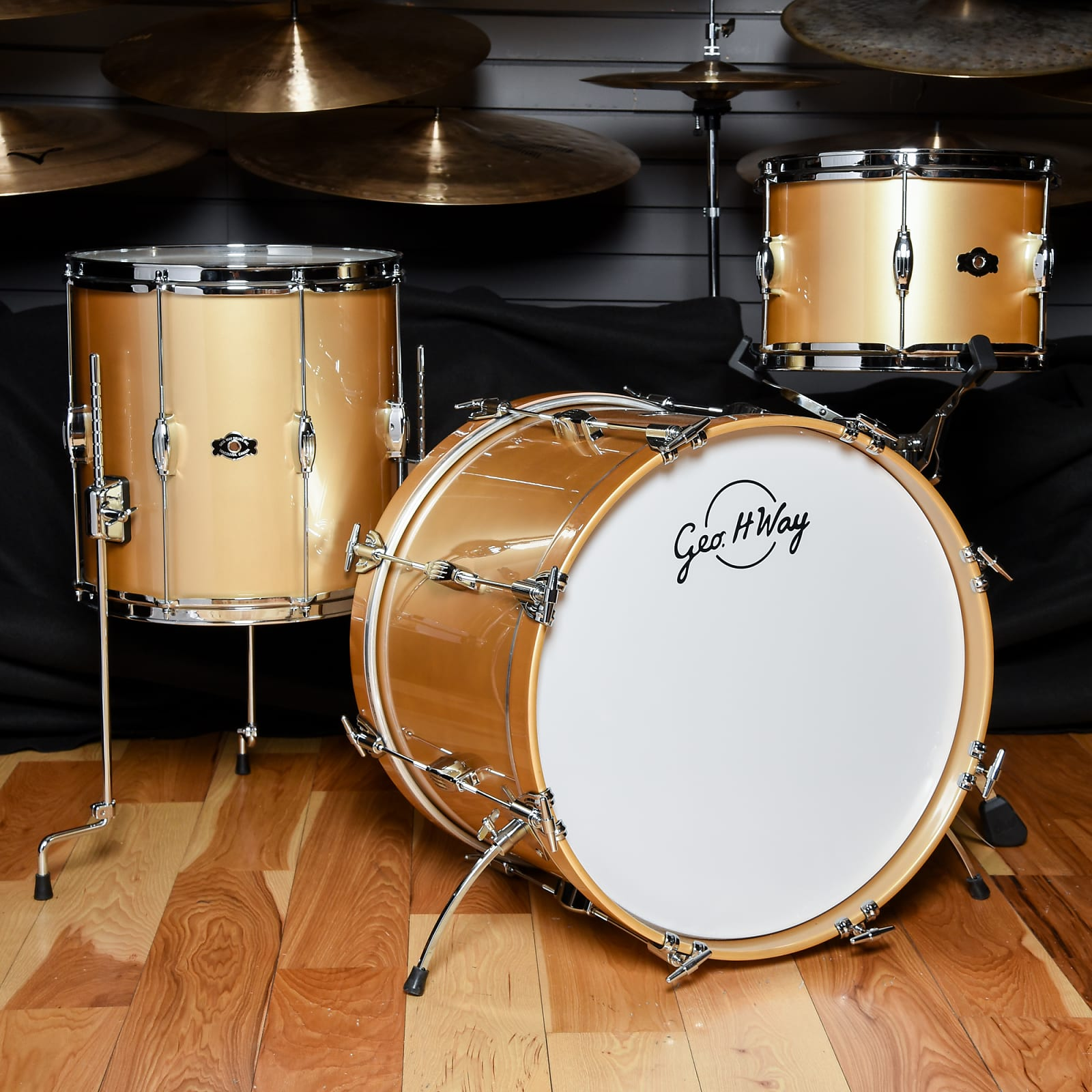 George Way 12/14/20 3pc WayGold Studio 12G Gloss Drum Kit USED