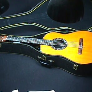 Giannini Fiber Tone Amplified Classical Guitar in it's Original Case & Ready to Play as-is 11 G for sale