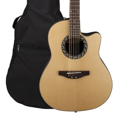 Applause AB24A-4 Balladeer Mid-Depth Bowl Acoustic Guitar - Natural w/ Gig Bag for sale