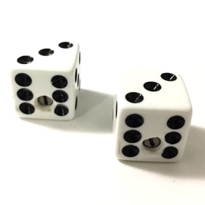 Dice Knobs for Guitar & Bass White (3&3 Up) PK-3250-025