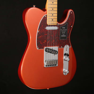 Fender Player Plus Telecaster, Maple Fingerboard, Aged Candy Apple Red 529 8lbs 1.5oz