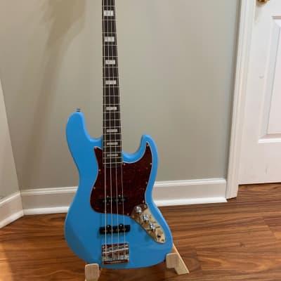GAMMA Custom Bass Guitar J21-01, Beta Model, Hamptons Blue for sale