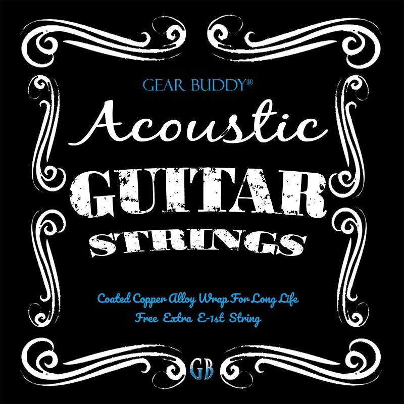 acoustic guitar strings light gauge coated wrap extra high reverb. Black Bedroom Furniture Sets. Home Design Ideas