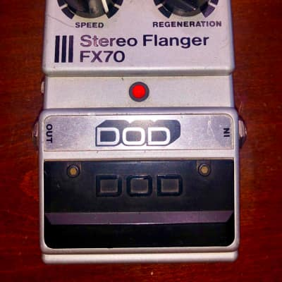 Dod  FX70 Stereo Flanger vintage 1980 Silver Grey for sale