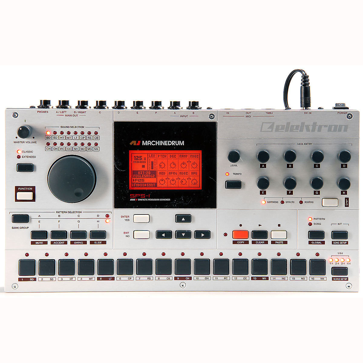 elektron sps 1 machinedrum drum synthesizer sequencer reverb. Black Bedroom Furniture Sets. Home Design Ideas