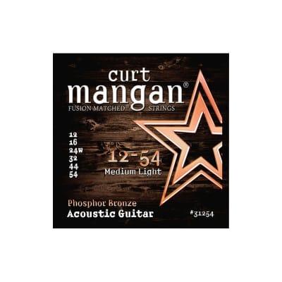 Curt Mangan Phosphor Bronze 12-54 Acoustic Strings